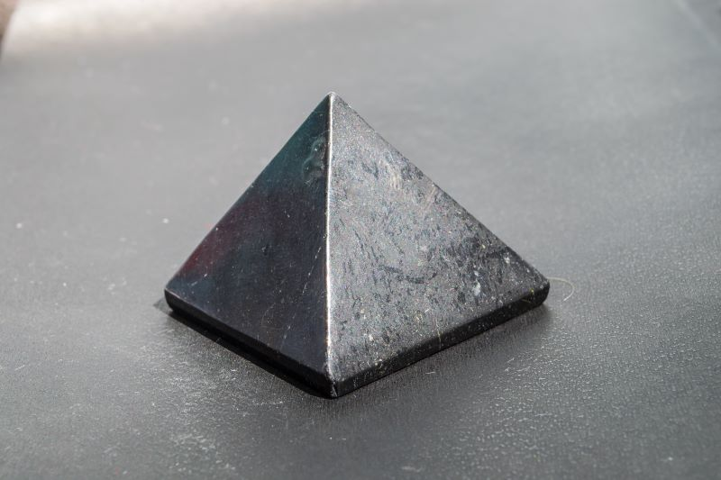 EMF Protection Crystals: The Heka Naturals Shungite Pyramid