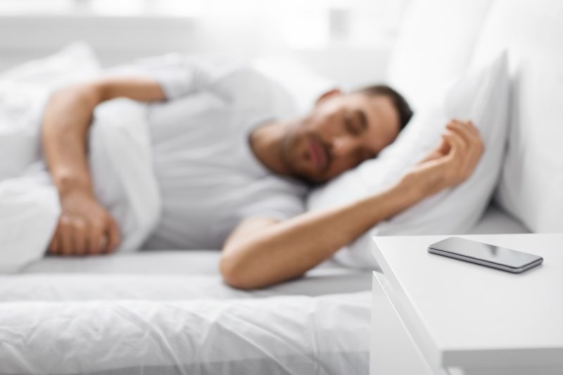 how far away should your phone be when you sleep